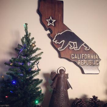 California Wood State Sign